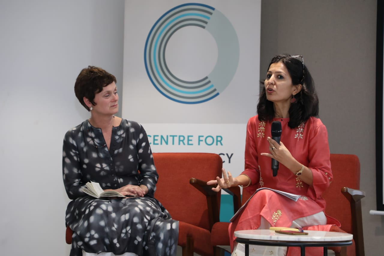 Jayna Kothari and Siri Gloppen speaking at our Sexual and Reproductive Rights Conference in April 2019.